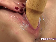 Gorgeous Blonde Switches Toy
