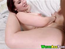 Pretty brunette slut Lily Sincere railed by big dick