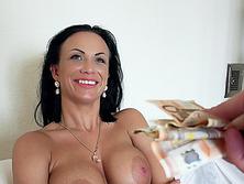 Samantha Blaze is a busty Euro babe that sucks cock for cash