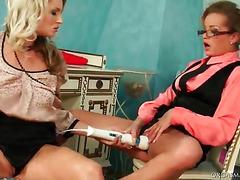 Lesbian vibrator test
