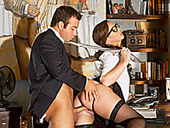 Sexy office babe Maddy Oreilly pounded