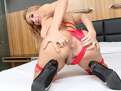 Lusty shemale ass fucking with horny guy