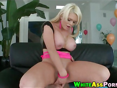 Busty whore Alexis Ford BJ and gets her asshole slammed