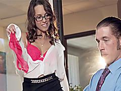 Secretary Jade strips for her busy boss