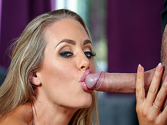 Nicole Aniston give Keiran Lee a deep throa blowjob
