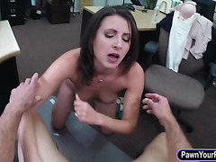 Customers wife banged at the pawnshop