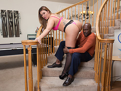 Klara Gold gets fucked by a big black dick and splashed with a hot load