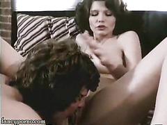 Babe having sex in clasic video