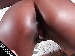 Wet Choco beauty taking a hardcore cunt fuck