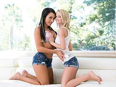 Horny girlfriends Sammie and Marina appreciates pussy pleasure