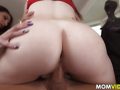 Stepmom Dava Foxx threesome with sexy Zoe Parker and her BF