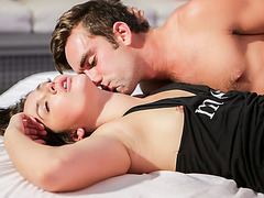 Beautiful Allie Haze gets her hairy pussy sweetly pounded in all angles