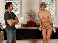 Horny and attractive Madelyn Monroe gets her pussy hammered by Tom