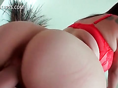 POV latina hottie cant get enough of her mans cock
