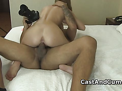 Maci fucking big shaft up her slit in POV style