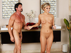 Blondie and attractive Madelyn gets fucked in secrecy by Tommy