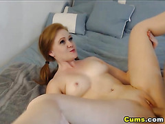 Redhead GF Sucks and RIdes Big Cock
