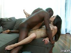 Nasty Shrima Malati enjoys a big black cock