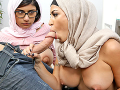 Mia Khalifa had no choice to share her bfs cock to stepmom