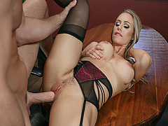 Johnny Sins big cock got Nicole Aniston rides on top