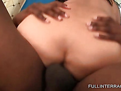 Asian slut banged hard in interracial scene