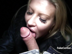 Babe flashing big tits outdoors