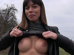 Hot sexy babe Mona Kim fucks a stranger out of fun
