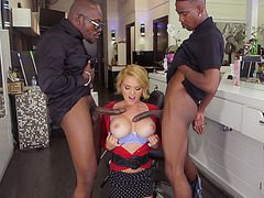 Hot horny blonde MILF Krissy Lynn craving black cocks