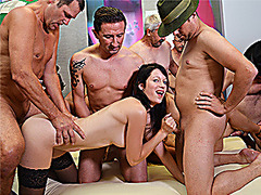 three german girls gangbang orgy
