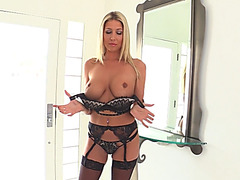 Fake tits milf blonde big black cock hot anal encounter