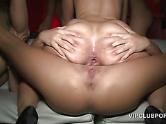 Party hoes fucking dicks and cunts in gangbang