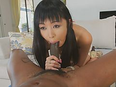 Asian Chick Marica Hase Fucked Black Rod Interracial