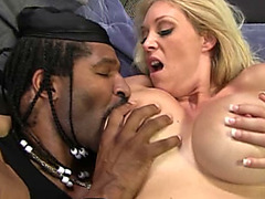 Step mom Charlee Chase threesome fuck interracial