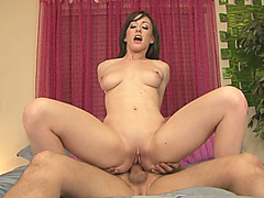 Gorgeous Babysitter Rubs Clit While Taking Huge Cock Up The Ass