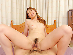 cock sucking Reina Nishio takes it down her pussy