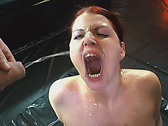 Euro redhead golden shower group sucking gagging