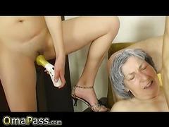OMAPASS granny and  threesome
