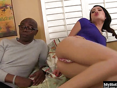 Chase Ryder has one horny black stepdaddy, and his dick is extra long
