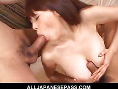 Wild sex for Rina Wakamiya and two horndogs