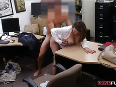 Big boobs business lady banged for a plane ticket back home