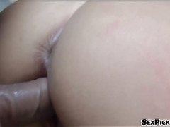 Czech girl Adrienne flashes boobs and nailed for some cash
