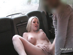 Taxi driver got lucky with busty blonde