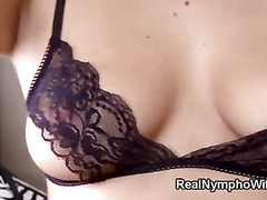Stunning MILF seduces husbands brotha with her sexy lingerie