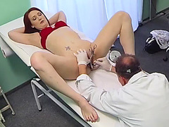 Hot redhead fucked in hospital