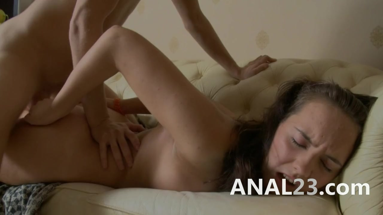 Anal 18 Years first time anal sex for a camera 18 years old on the couch