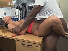 Big Black Dong Fucking Small Tits Babe Interracial