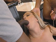 Big tits cougar hardcore meeting with monster black dick