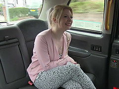Beautiful hot blonde Paige rides a big cock taxi driver