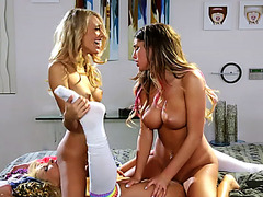 A damn wild party pussy licking with the teens Janice Carmen and August