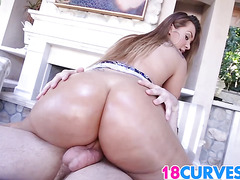 Teen Klara Gold has a golden ass